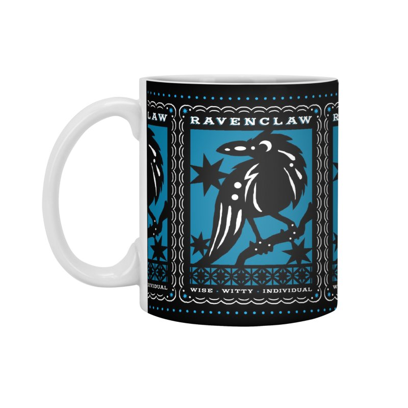 RAVENCLAW Mexican Papel Picado Inspired Hogwarts House Crest Accessories Mug by serpenthes's Artist Shop