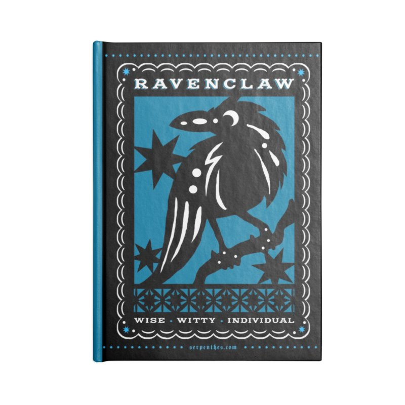 RAVENCLAW Mexican Papel Picado Inspired Hogwarts House Crest Accessories Lined Journal Notebook by serpenthes's Artist Shop