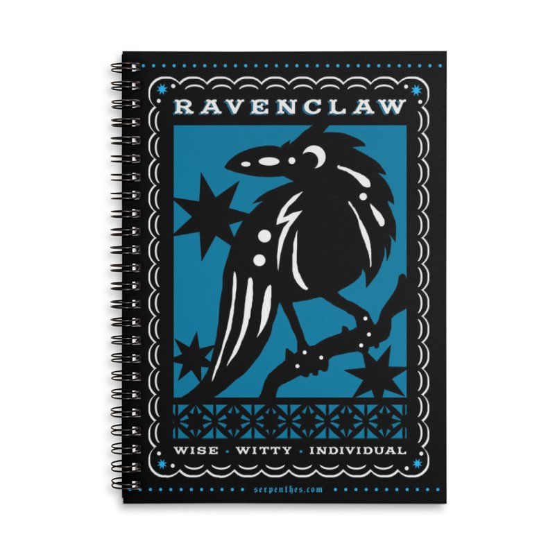 RAVENCLAW Mexican Papel Picado Inspired Hogwarts House Crest Accessories Lined Spiral Notebook by serpenthes's Artist Shop