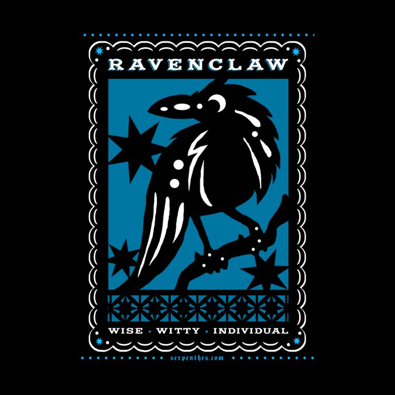 RAVENCLAW Mexican Papel Picado Inspired Hogwarts House Crest by serpenthes's Artist Shop