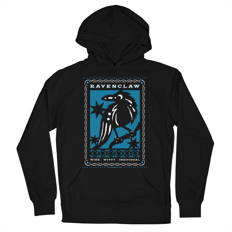 RAVENCLAW Mexican Papel Picado Inspired Hogwarts House Crest Women's French Terry Pullover Hoody by serpenthes's Artist Shop