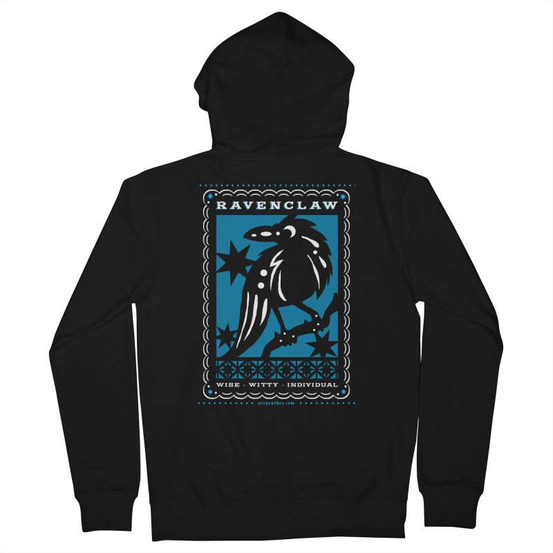 RAVENCLAW Mexican Papel Picado Inspired Hogwarts House Crest Men's Zip-Up Hoody by serpenthes's Artist Shop