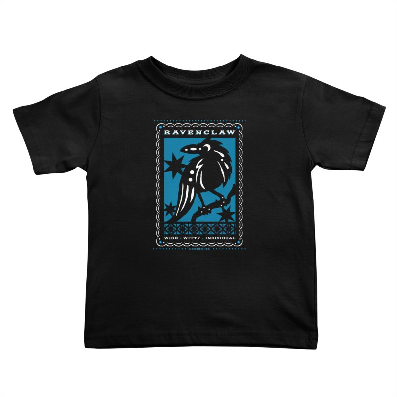 RAVENCLAW Mexican Papel Picado Inspired Hogwarts House Crest Kids Toddler T-Shirt by serpenthes's Artist Shop