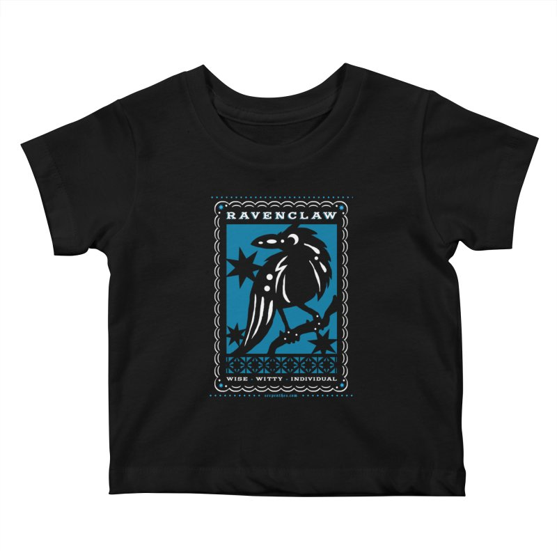 RAVENCLAW Mexican Papel Picado Inspired Hogwarts House Crest Kids Baby T-Shirt by serpenthes's Artist Shop