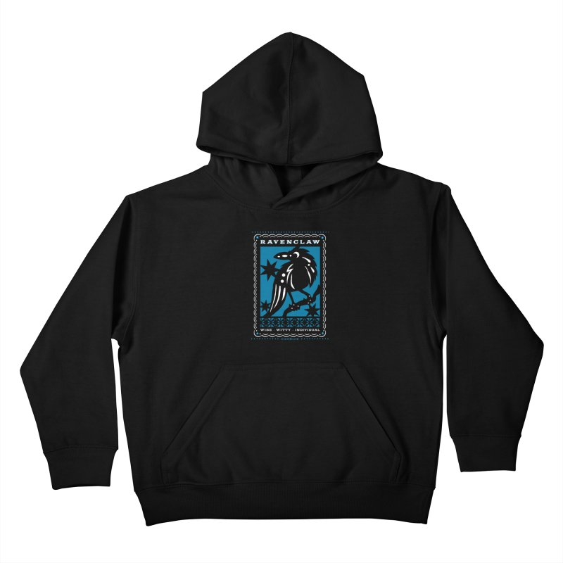 RAVENCLAW Mexican Papel Picado Inspired Hogwarts House Crest Kids Pullover Hoody by serpenthes's Artist Shop