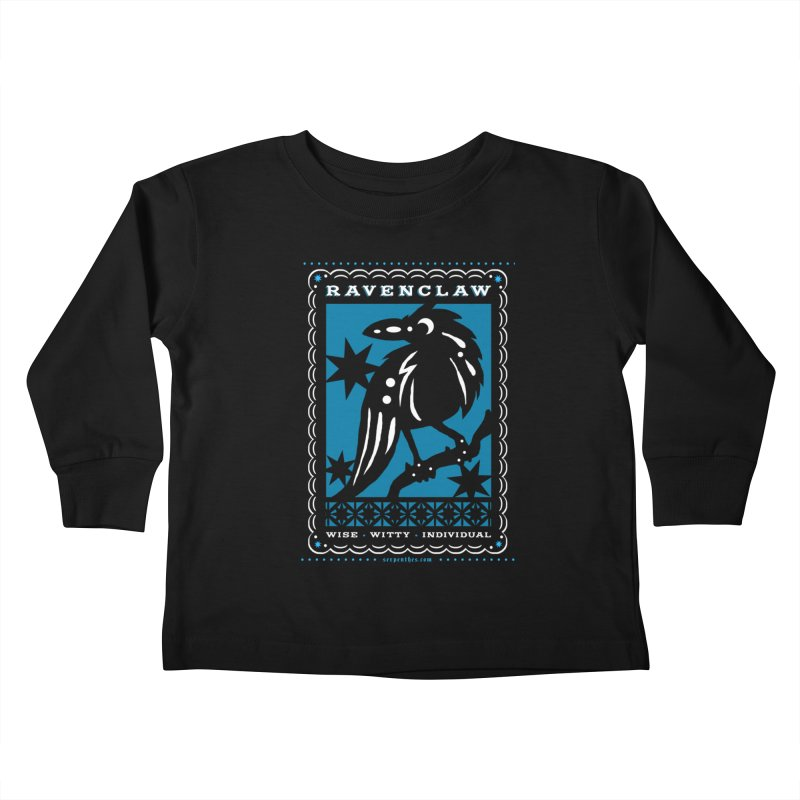 RAVENCLAW Mexican Papel Picado Inspired Hogwarts House Crest Kids Toddler Longsleeve T-Shirt by serpenthes's Artist Shop