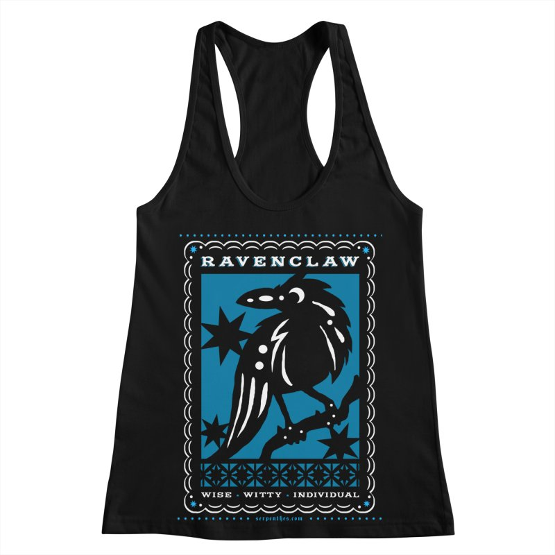 RAVENCLAW Mexican Papel Picado Inspired Hogwarts House Crest Women's Racerback Tank by serpenthes's Artist Shop