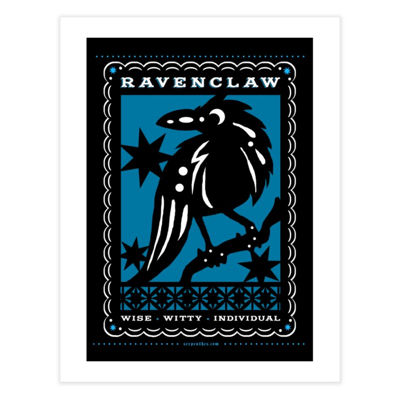 RAVENCLAW Mexican Papel Picado Inspired Hogwarts House Crest Home Fine Art Print by serpenthes's Artist Shop