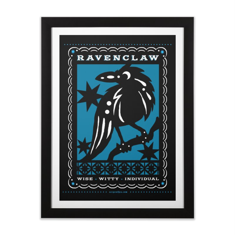 RAVENCLAW Mexican Papel Picado Inspired Hogwarts House Crest Home Framed Fine Art Print by serpenthes's Artist Shop