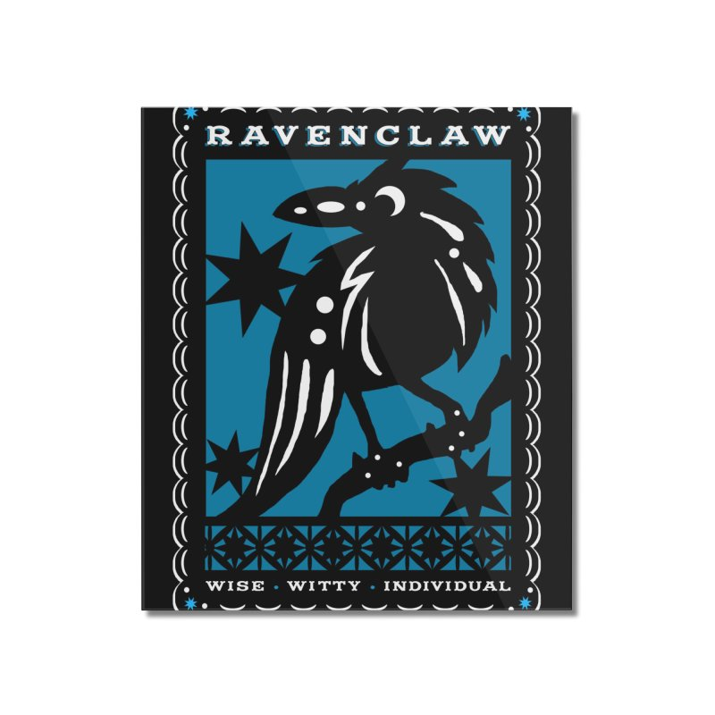 RAVENCLAW Mexican Papel Picado Inspired Hogwarts House Crest Home Mounted Acrylic Print by serpenthes's Artist Shop