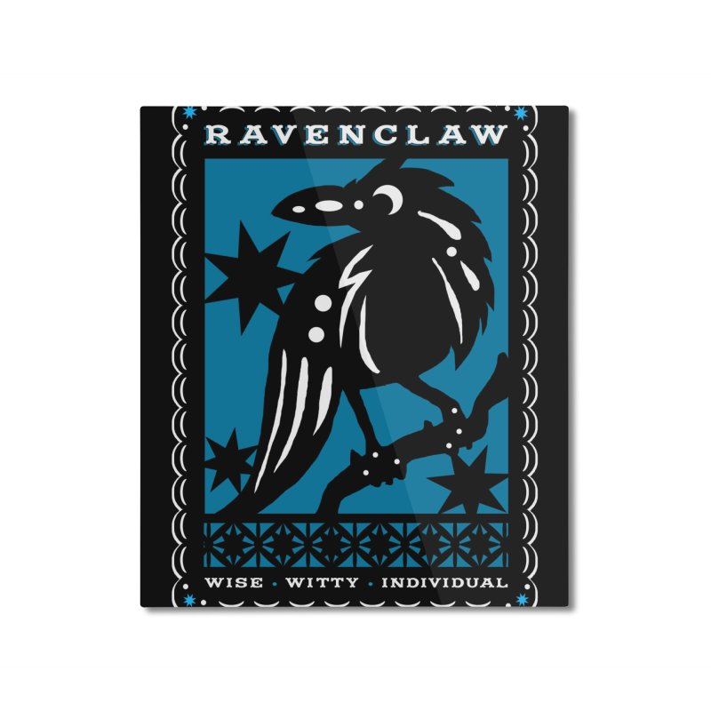 RAVENCLAW Mexican Papel Picado Inspired Hogwarts House Crest Home Mounted Aluminum Print by serpenthes's Artist Shop