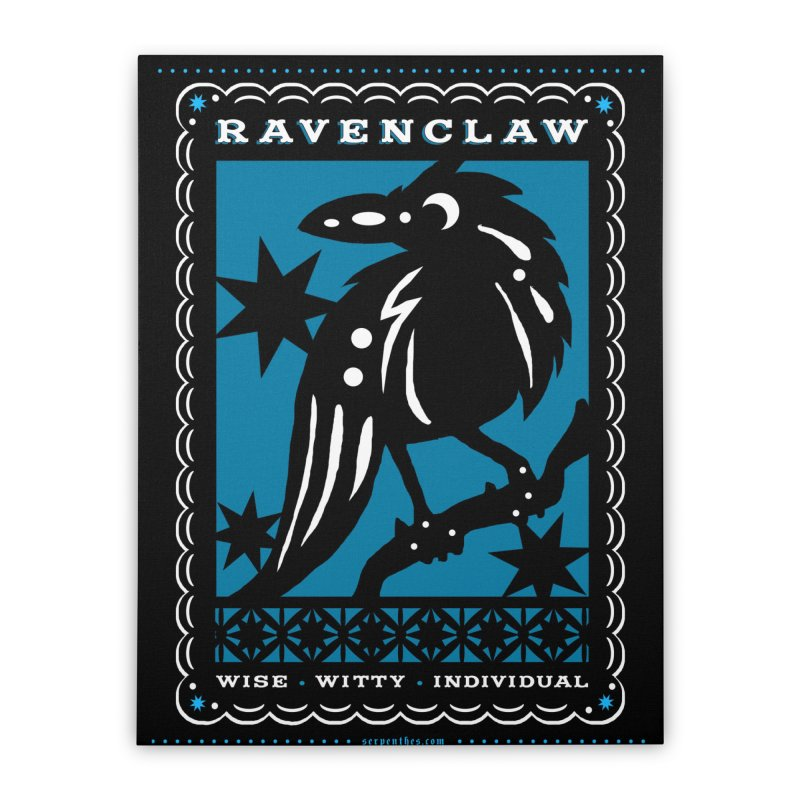 RAVENCLAW Mexican Papel Picado Inspired Hogwarts House Crest Home Stretched Canvas by serpenthes's Artist Shop