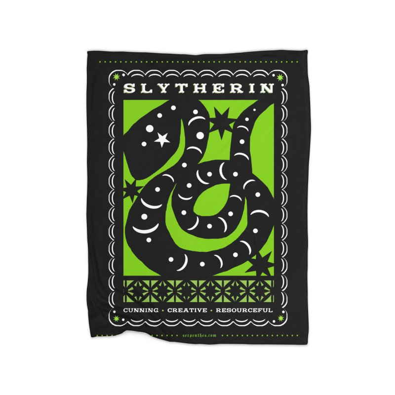 SLYTHERIN Mexican Papel Picado Inspired Hogwarts House Crest Home Blanket by serpenthes's Artist Shop