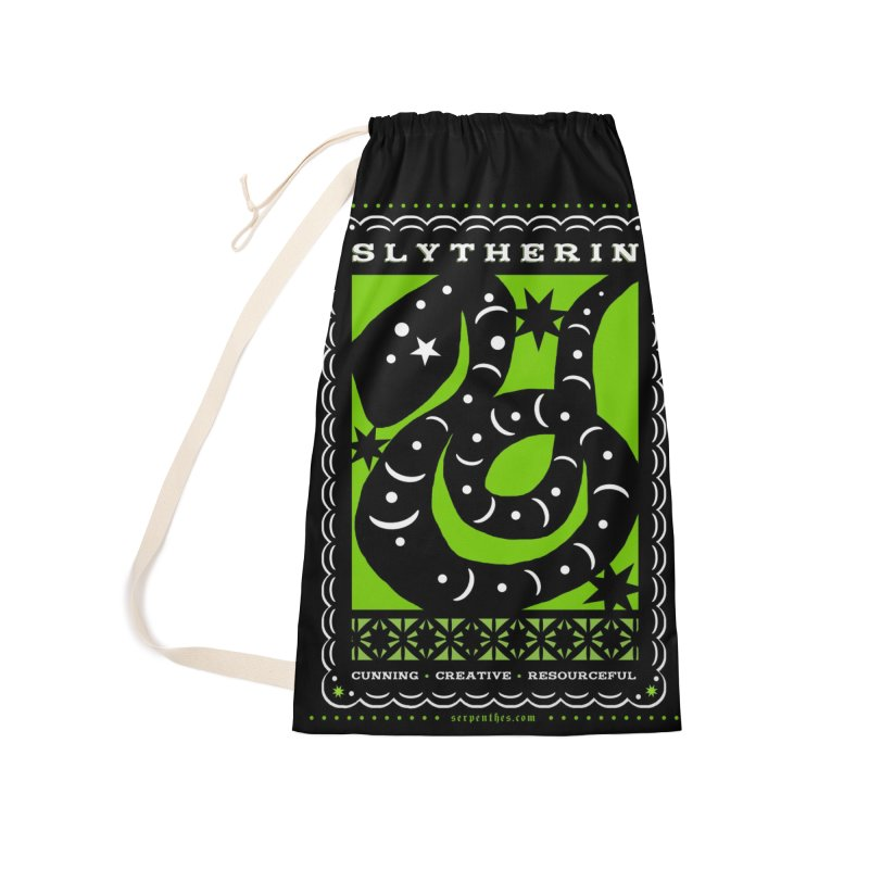 SLYTHERIN Mexican Papel Picado Inspired Hogwarts House Crest Accessories Laundry Bag Bag by serpenthes's Artist Shop