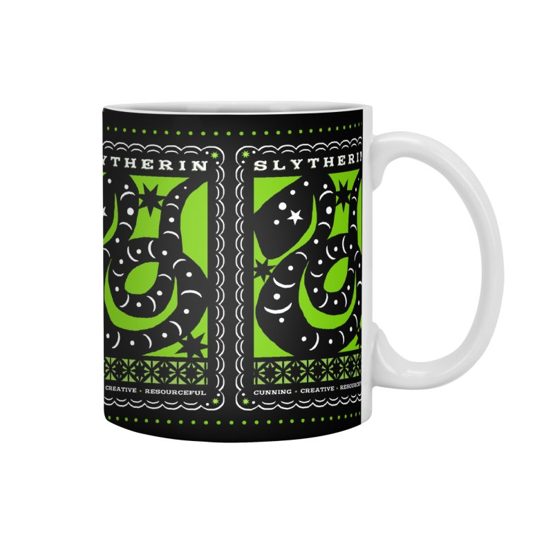 SLYTHERIN Mexican Papel Picado Inspired Hogwarts House Crest Accessories Mug by serpenthes's Artist Shop