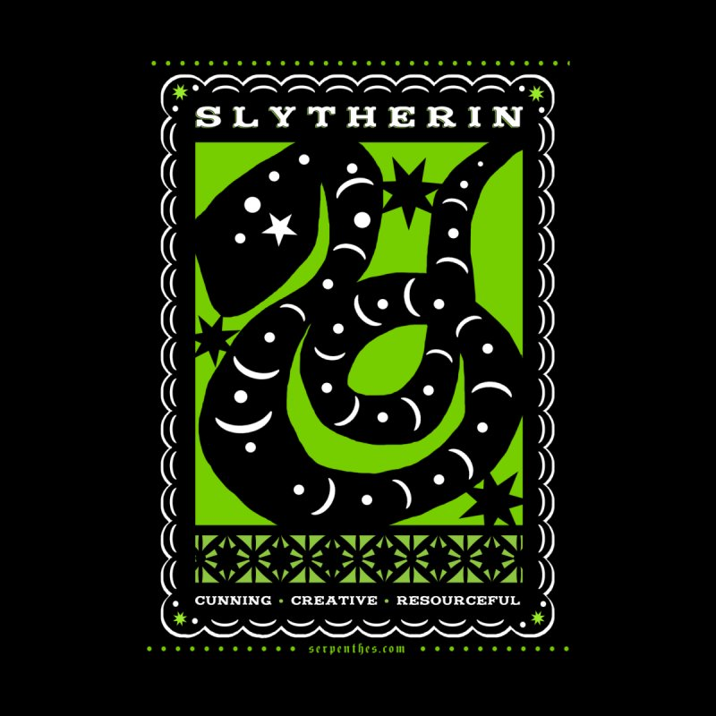 SLYTHERIN Mexican Papel Picado Inspired Hogwarts House Crest   by serpenthes's Artist Shop