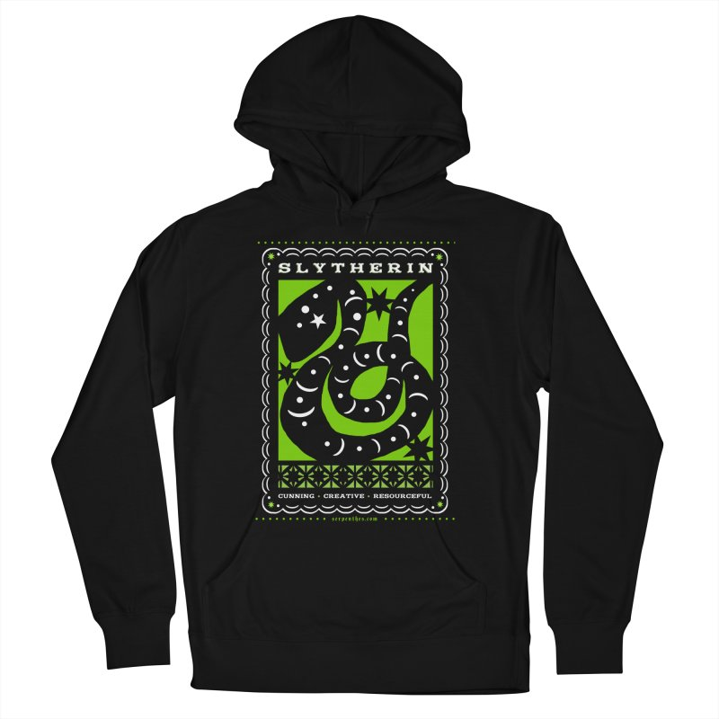 SLYTHERIN Mexican Papel Picado Inspired Hogwarts House Crest Women's French Terry Pullover Hoody by serpenthes's Artist Shop
