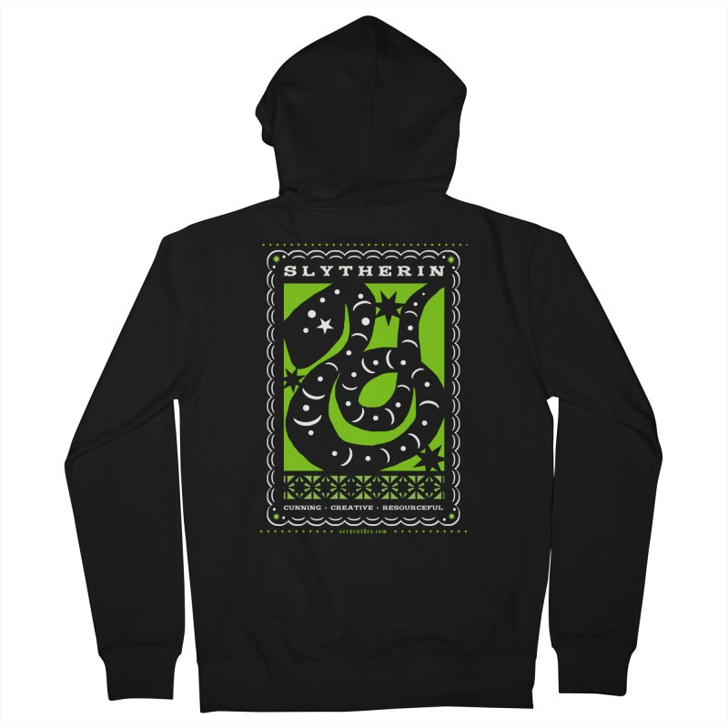 SLYTHERIN Mexican Papel Picado Inspired Hogwarts House Crest Women's French Terry Zip-Up Hoody by serpenthes's Artist Shop