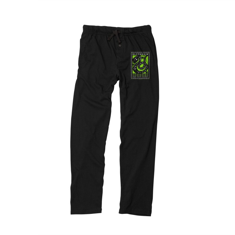 SLYTHERIN Mexican Papel Picado Inspired Hogwarts House Crest Men's Lounge Pants by serpenthes's Artist Shop