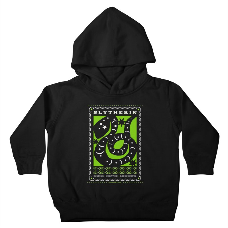 SLYTHERIN Mexican Papel Picado Inspired Hogwarts House Crest Kids Toddler Pullover Hoody by serpenthes's Artist Shop
