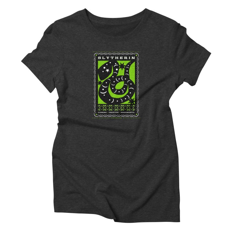 SLYTHERIN Mexican Papel Picado Inspired Hogwarts House Crest Women's T-Shirt by serpenthes's Artist Shop