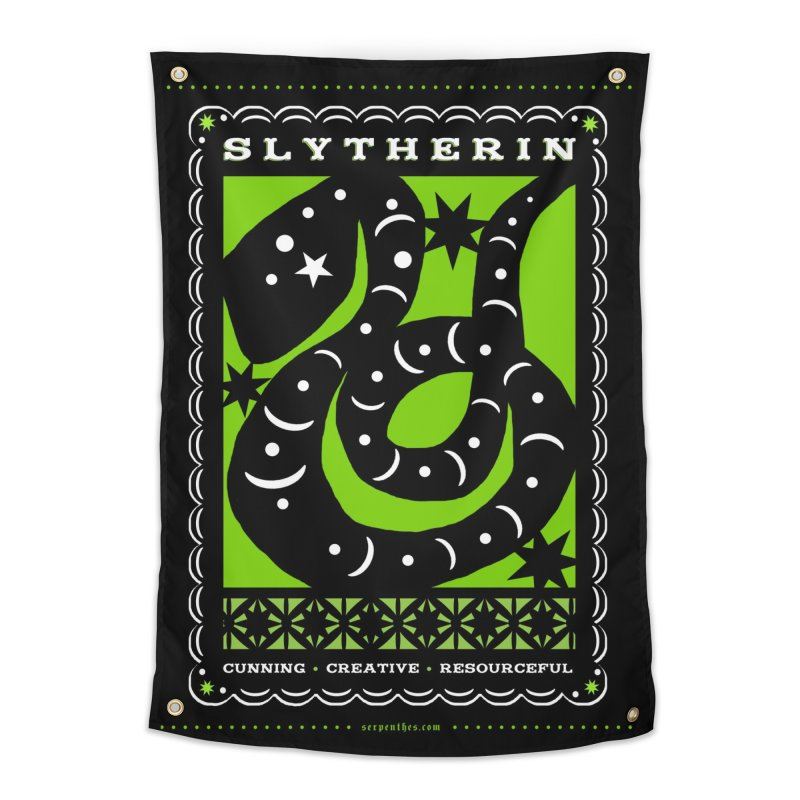 SLYTHERIN Mexican Papel Picado Inspired Hogwarts House Crest Home Tapestry by serpenthes's Artist Shop