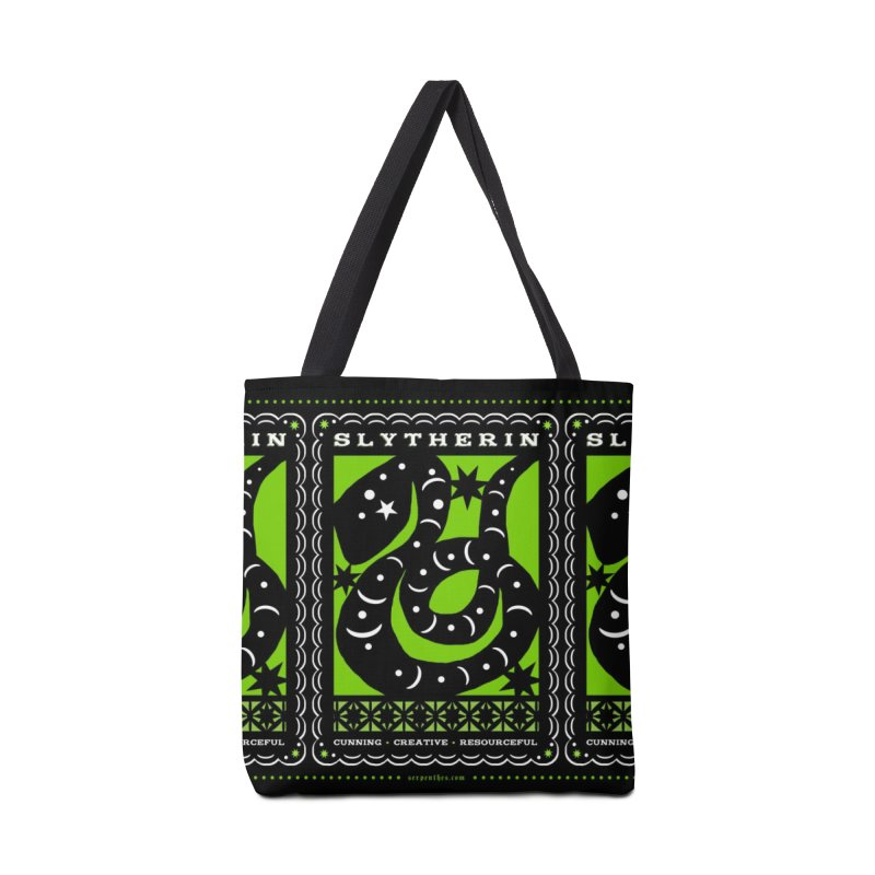 SLYTHERIN Mexican Papel Picado Inspired Hogwarts House Crest Accessories Tote Bag Bag by serpenthes's Artist Shop