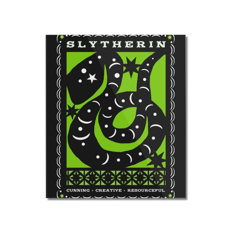 SLYTHERIN Mexican Papel Picado Inspired Hogwarts House Crest Home Mounted Acrylic Print by serpenthes's Artist Shop