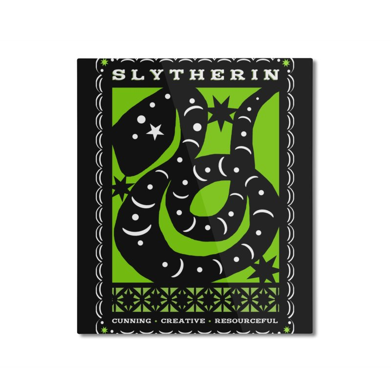SLYTHERIN Mexican Papel Picado Inspired Hogwarts House Crest Home Mounted Aluminum Print by serpenthes's Artist Shop
