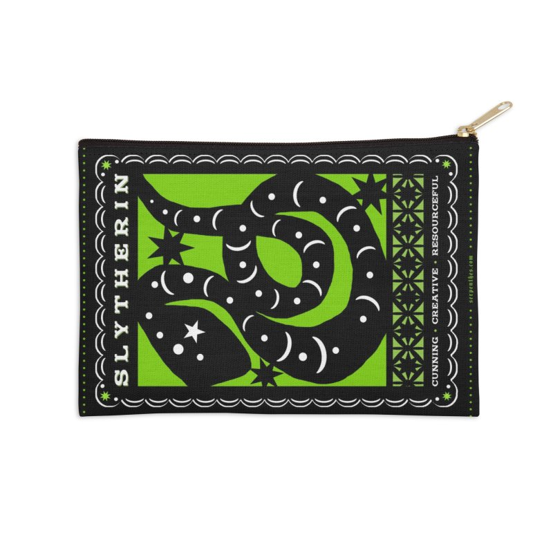 SLYTHERIN Mexican Papel Picado Inspired Hogwarts House Crest Accessories Zip Pouch by serpenthes's Artist Shop