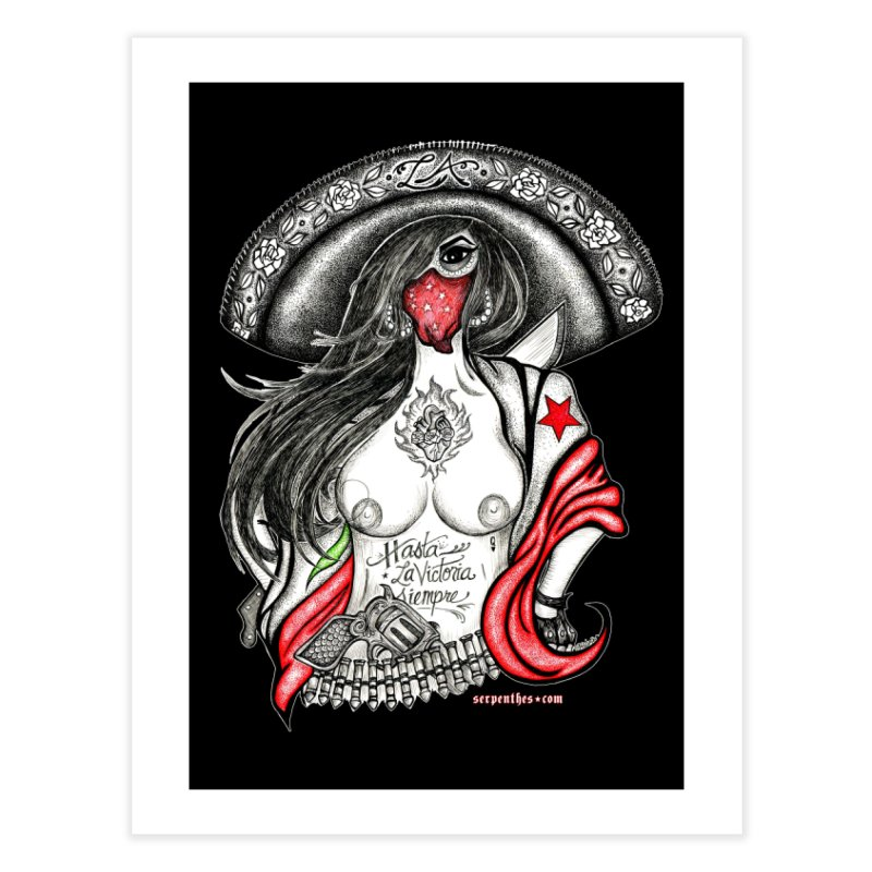 Reina de Los Angeles Home Fine Art Print by serpenthes's Artist Shop