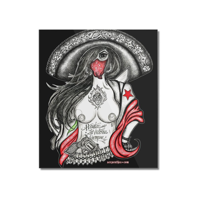 Reina de Los Angeles Home Mounted Acrylic Print by serpenthes's Artist Shop