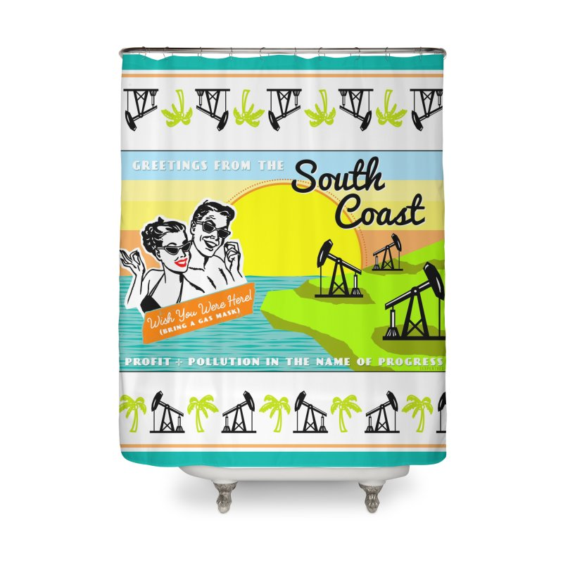 South Coast Home Shower Curtain by serpenthes's Artist Shop