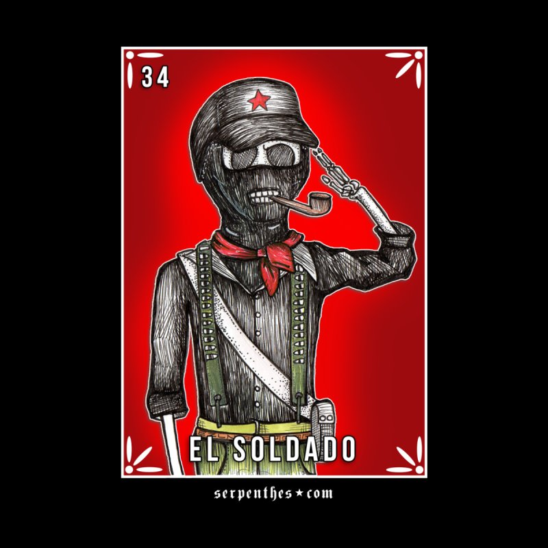 Lotería Serpenthes : Card No. 34 : El Soldado by serpenthes's Artist Shop