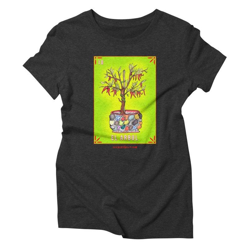 Lotería Serpenthes : Card No. 10 : El Arbol Women's Triblend T-Shirt by serpenthes's Artist Shop