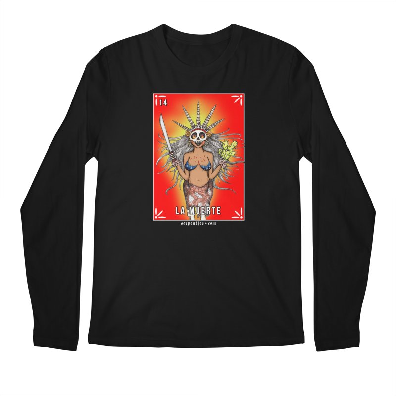 Lotería Serpenthes : Card No. 14 : La Muerte Men's Longsleeve T-Shirt by serpenthes's Artist Shop