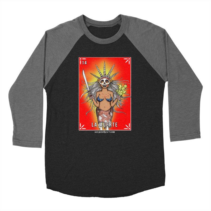 Lotería Serpenthes : Card No. 14 : La Muerte Men's Baseball Triblend T-Shirt by serpenthes's Artist Shop
