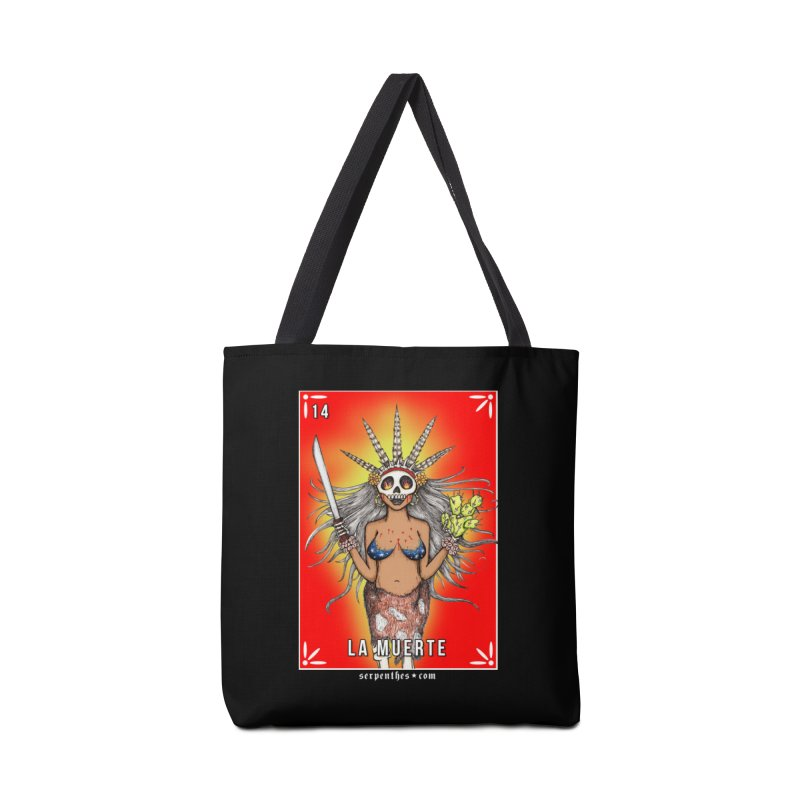 Lotería Serpenthes : Card No. 14 : La Muerte Accessories Bag by serpenthes's Artist Shop