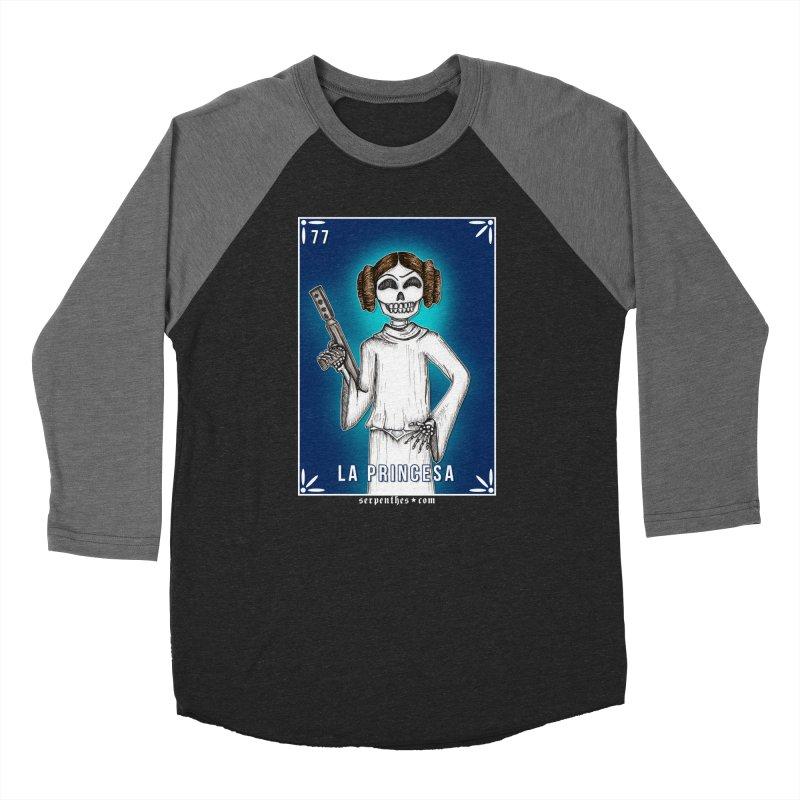 Lotería Serpenthes : Card No. 77 : La Princesa Men's Baseball Triblend T-Shirt by serpenthes's Artist Shop