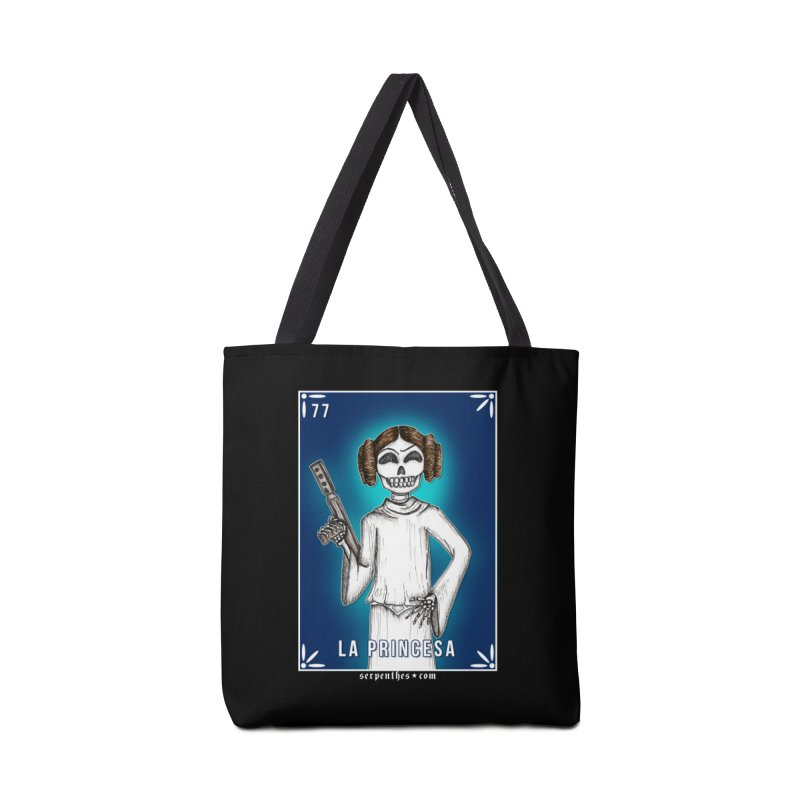 Lotería Serpenthes : Card No. 77 : La Princesa Accessories Bag by serpenthes's Artist Shop