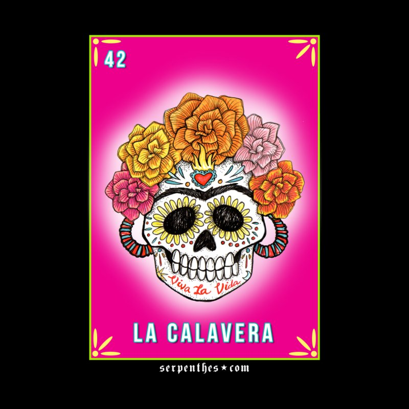 Lotería Serpenthes : Card No. 42 : La Calavera None  by serpenthes's Artist Shop