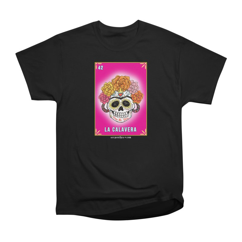 Lotería Serpenthes : Card No. 42 : La Calavera Men's Classic T-Shirt by serpenthes's Artist Shop