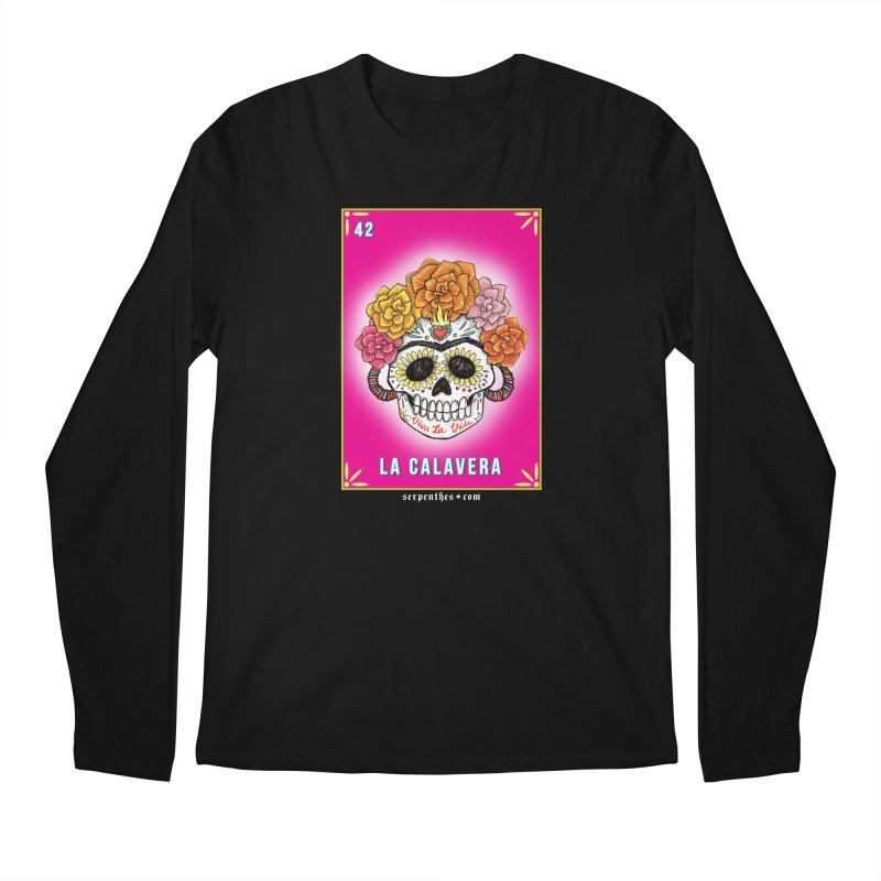 Lotería Serpenthes : Card No. 42 : La Calavera Men's Longsleeve T-Shirt by serpenthes's Artist Shop