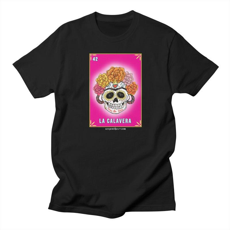 Lotería Serpenthes : Card No. 42 : La Calavera Men's T-Shirt by serpenthes's Artist Shop