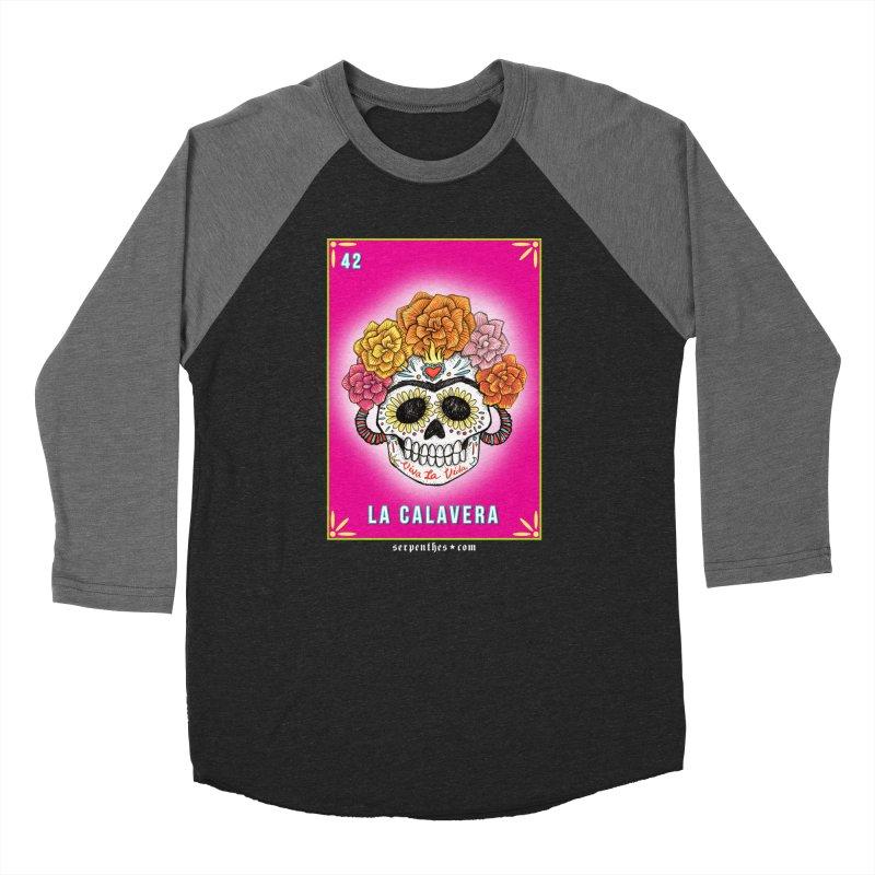 Lotería Serpenthes : Card No. 42 : La Calavera Men's Baseball Triblend T-Shirt by serpenthes's Artist Shop