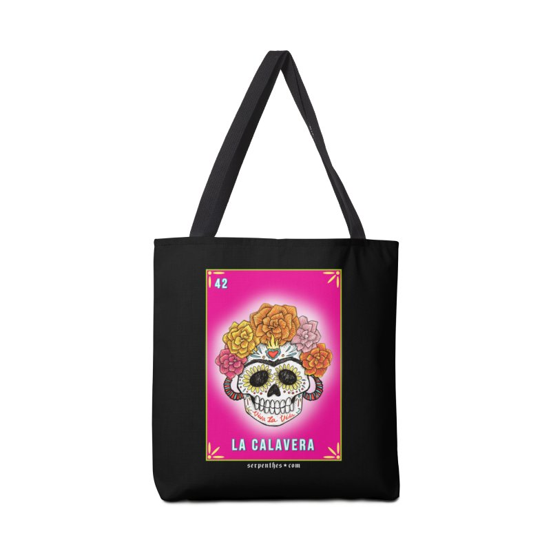 Lotería Serpenthes : Card No. 42 : La Calavera Accessories Bag by serpenthes's Artist Shop