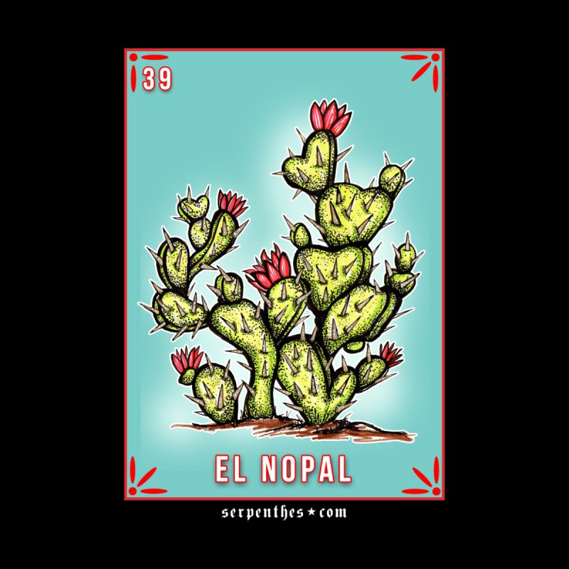 Lotería Serpenthes : Card No. 39 : El Nopal by serpenthes's Artist Shop