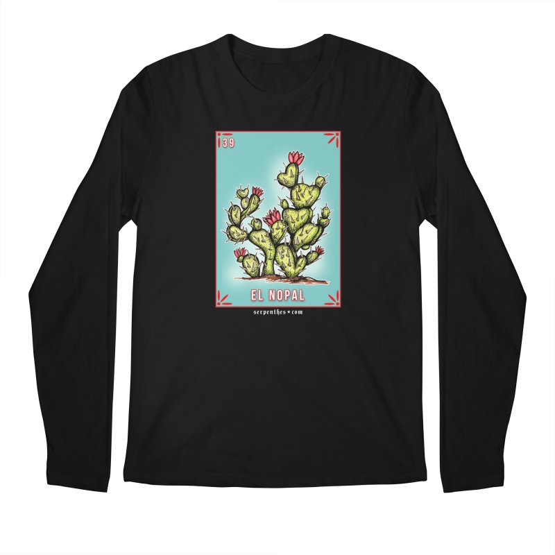 Lotería Serpenthes : Card No. 39 : El Nopal Men's Longsleeve T-Shirt by serpenthes's Artist Shop