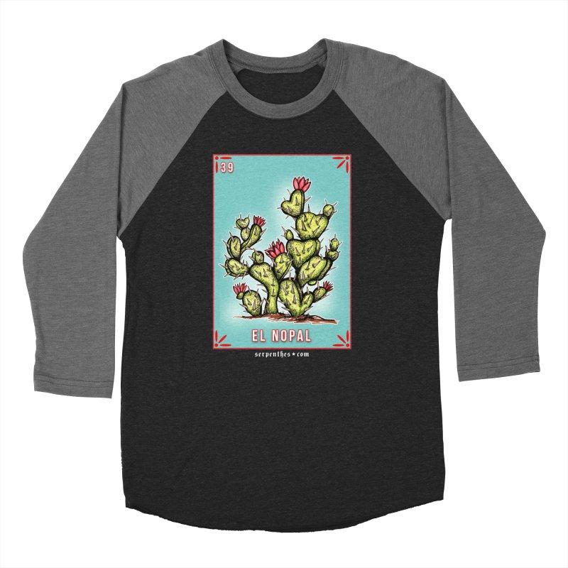 Lotería Serpenthes : Card No. 39 : El Nopal Men's Baseball Triblend T-Shirt by serpenthes's Artist Shop
