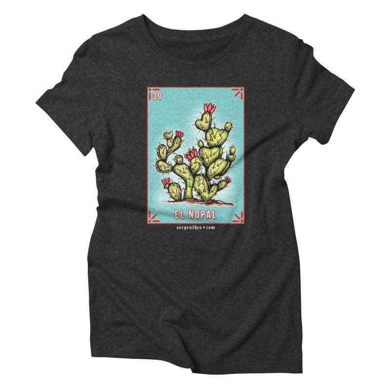 Lotería Serpenthes : Card No. 39 : El Nopal Women's Triblend T-Shirt by serpenthes's Artist Shop